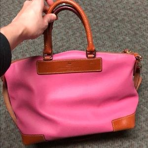Dooney and Bourke pink leather satchel bag